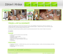 Website of physiotheraphy services and cosmetic treatments