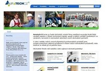 Auratech's website with dynamic product catalog.